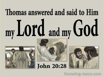 John 20:28 Thomas Said My Lord And My God (gray)