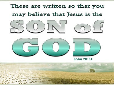 John 20:31 By Believing You WIll Have Life (white)