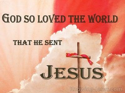 John 3:16 God So Loved The World (pink)