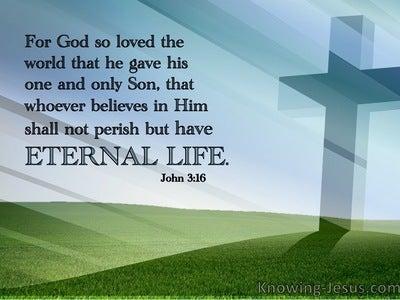 John 3:16 The HEIGHT of God's Superlative Love (green) (devotional)07:09