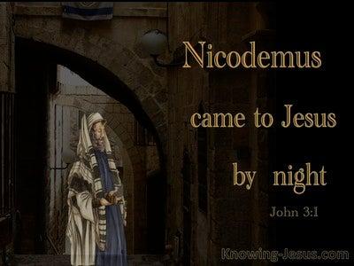 John 3:2 Nicodemus Came To Jesus By Night (orange)