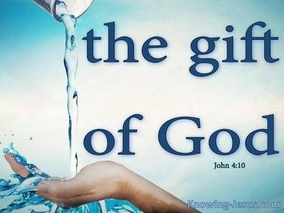 John 4:10 The Gift of God (blue)