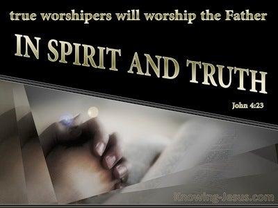 John 4:23 Worship In Spirit And Truth (gold)