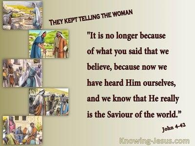John 4:42 We Know He Is The Saviour (maroon)
