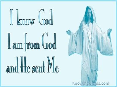 John 7:29 I Am Sent From God (blue)