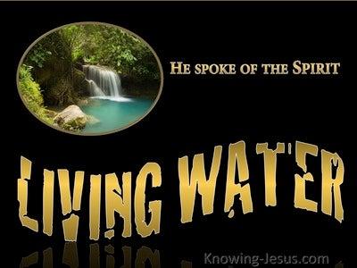 John 7:39 Living Water (gold)