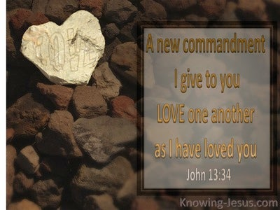 John 3:34 Love As I Have Loved You (brown)