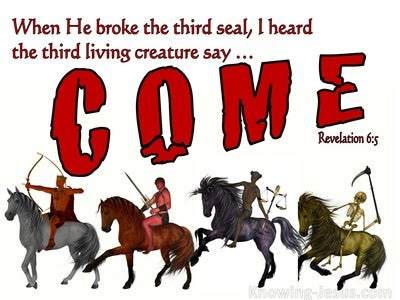 Revelation 6:5  Behold, A Black Horse (red)