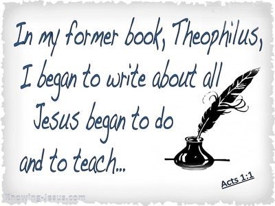 Acts 1:1 Letter to Theophilus (blue)