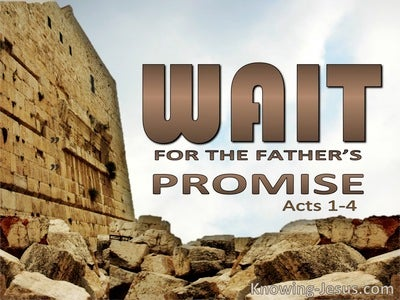 Acts 1:4 Do Not Leave Jerusalem But Wait (brown)