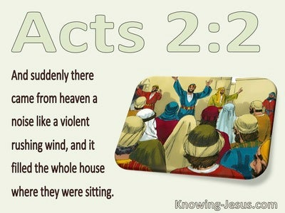 Acts 2:2 Suddenly A Sound Like A Violent Wind (green)