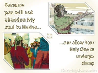 Acts 2:27 You Will Not Abandon My Soul To Hades (beige)