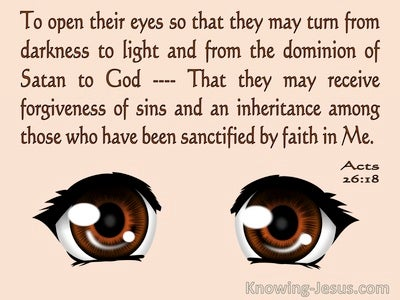 Acts 26:18 TO Open Their Eyes And Turn (pink)