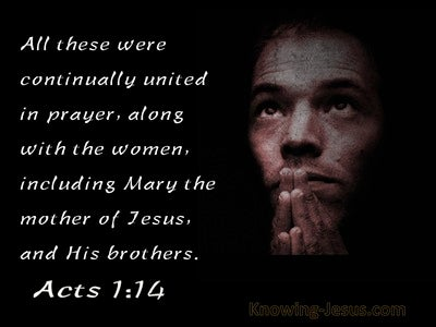 Acts 1:14 United Together In Prayer (black)