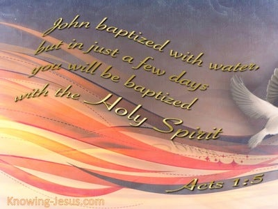 Acts 1:5 Baptised With The Holy Spirit (gray)