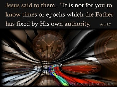 Acts 1:7 The Times And Seasons The Father Has Set (brown)