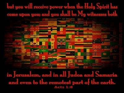 Acts 1:8 You Shall Be My Witnesses (black)