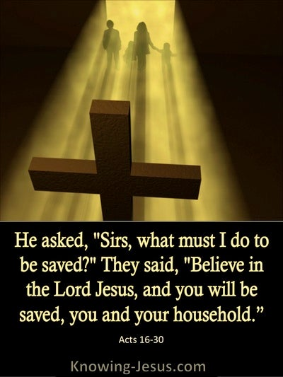 Acts 16:30 What Must I Do To Be Saved (black)