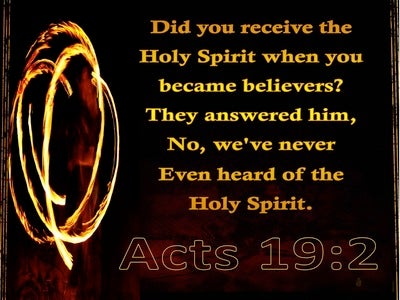 Acts 19:2 Did You Receive the Spirt When You First Believed (gold)