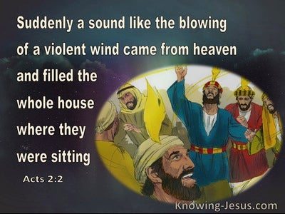 Acts 2:2 Suddenly A Sound Like A Violent Wind (black)
