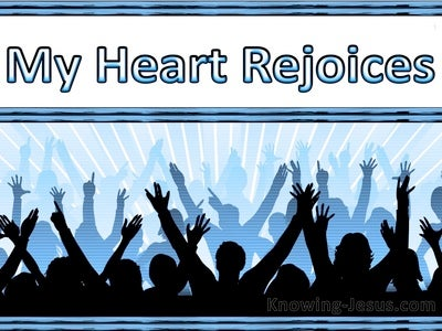 Acts 2:26 My Heart Rejoices (blue)
