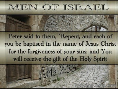 Acts 2:38 Repent And Be Baptised (silver)
