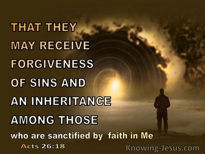 Acts 26:18 That They May Receive Forgiveness (yellow)