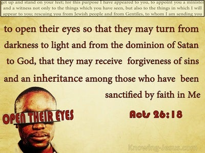 Acts 26:18 Turn From Darkness To Light (beige)