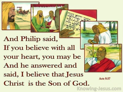 Acts 8:37 Jesus Christ Is The Son Of God (yellow)
