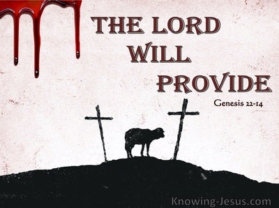 Genesis 22:14 The Lord Will Provide (maroon)