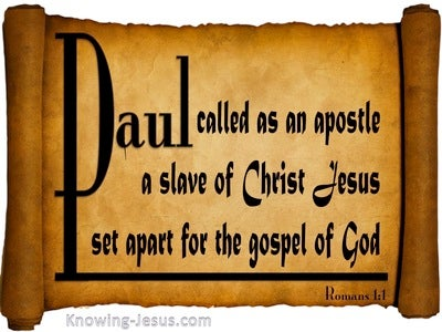 Romans 1:1 Set Apart For The Gospel (black)