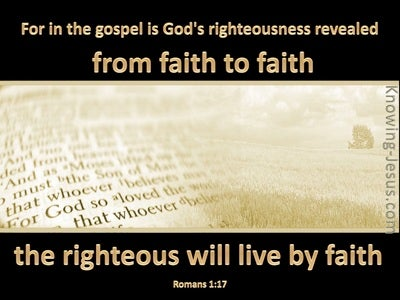 Romans 1:17 God's Righteousness Revealed (beige)