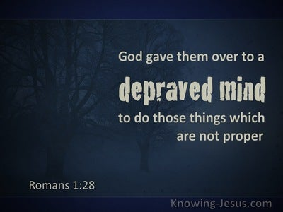 Romans 1:28 God Gave Them Over To A Debased Mind (navy)