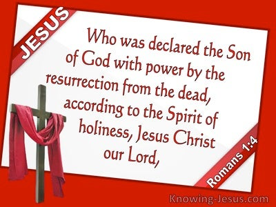 Romans 1:4 Jesus Christ Declared Son Of God (red)