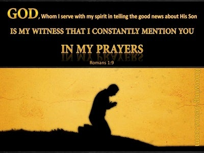 Romans 1:9 God Is My Witness (yellow)