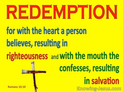 Romans 10:10 Righteousness and Salvation (yellow)
