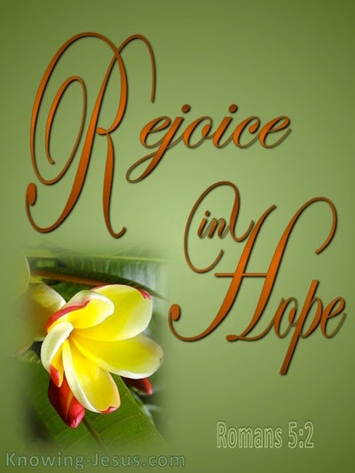 Romans 12:12 Rejoice In Hope (green)