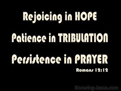 Romans 12:12 Rejoicing In Hope (black)