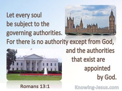 Romans 13:1 Let Every Soul Be Subject To The Governing Authorities (brown)