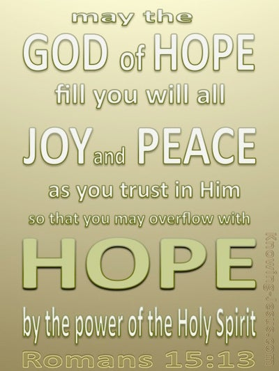 Romans 15:13 God Of Hope (sage)