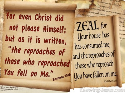 Romans 15:3 Psalm 69:9 Those Who Reproach You Reproached Me (beige)