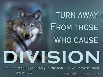 Romans 16:17 Keep An Eye On Those Who Cause Dissensions (aqua)