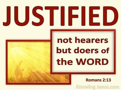 Romans 2:13 Not Hearers But Doers Of The Word (red)