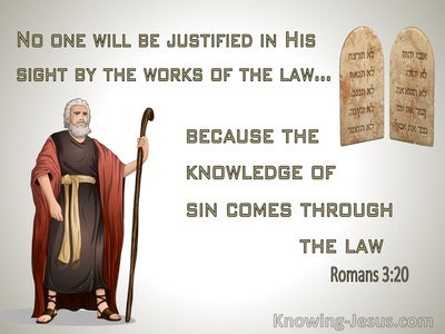Romans 3:20 The Law Makes Us Conscious of Sin (brown)