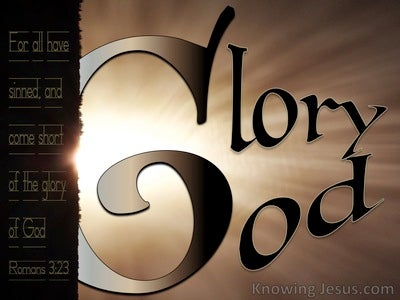 Romans 3:23 All Have Sinned And Fall Short Of God's Glory (brown)