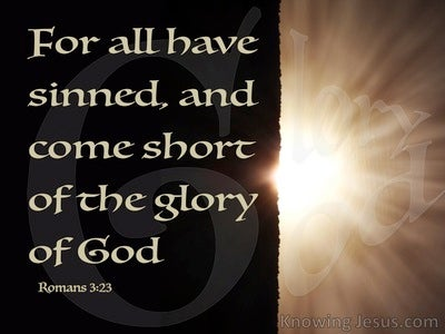romans 323 all have sinned and fall short of gods glory brown
