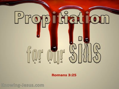 Romans 3:25a Propitiation For Our Sins (beige)