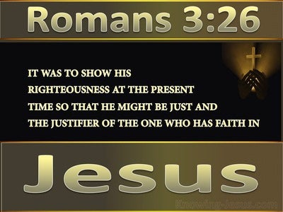 Romans 3:26 From Death To Life (gold)