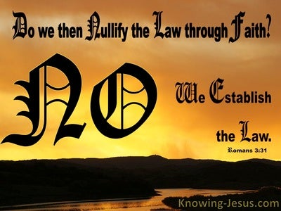 Romans 3:31 Do We Nullify The Law Through Faith (black)
