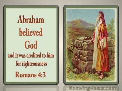 Romans 4:3 Abraham Believed God (red)